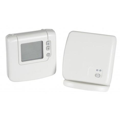Thermostat d`ambiance sans fil digital non programmable DT92 avec boitier relais