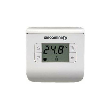 Thermostat d'ambiance électronique giacomini k494ay001 | blanc