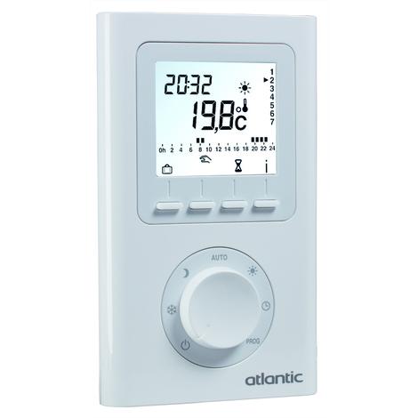 Thermostat d'ambiance électronique programmable filaire - Atlantic