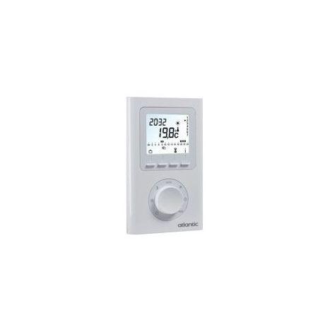 Thermostat d'ambiance électronique programmable radio Atlantic 073271