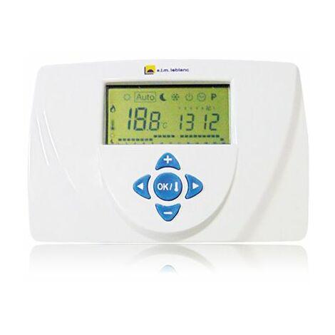 Thermostat dAmbiance Filaire Contact sec Programmable TRL 7.26 Elm Leblanc Compatible toutes chaudières
