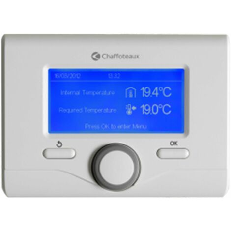 Thermostat dAmbiance Filaire Modulant Programmable Expert control Chaffoteaux