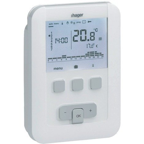 Thermostat d'ambiance programmable digital filaire TAP