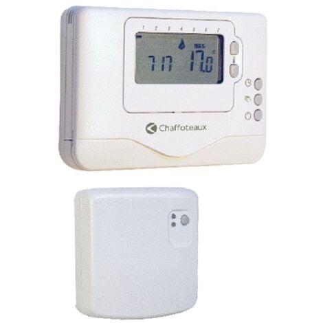 Thermostat dAmbiance Sans Fil Contact sec Programmable Easy Control R Chaffoteaux Compatible toutes chaudières