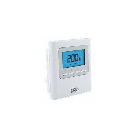 Thermostat d'ambiance sans fil Delta 8000 TA RF - Pour chauffage ou climatisation