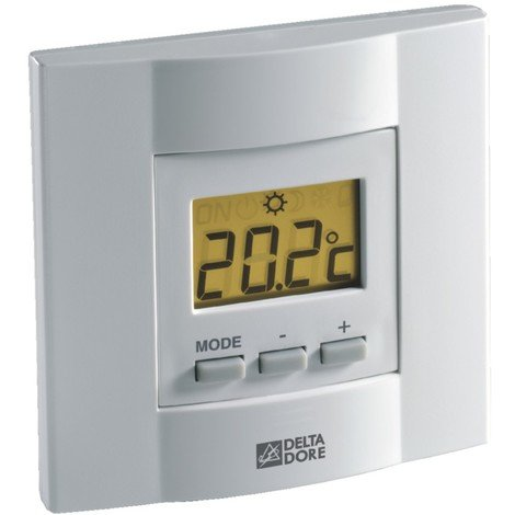 Thermostat d'ambiance TYBOX 51 à touches - Filaire - Delta Dore