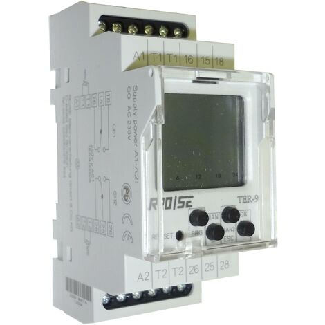 Thermostat d'armoire Rose LM TER-9 TER-9 230 V/AC 2 inverseurs (RT) (L x l x H) 90 x 35.5 x 64 mm 1 pc(s) Q62061