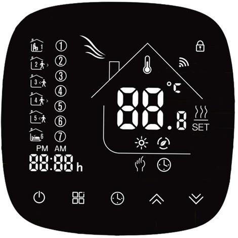 Thermostat de chauffage electrique au sol ecran tactile LCD avec commande vocale WiFi BHT-001GBLW