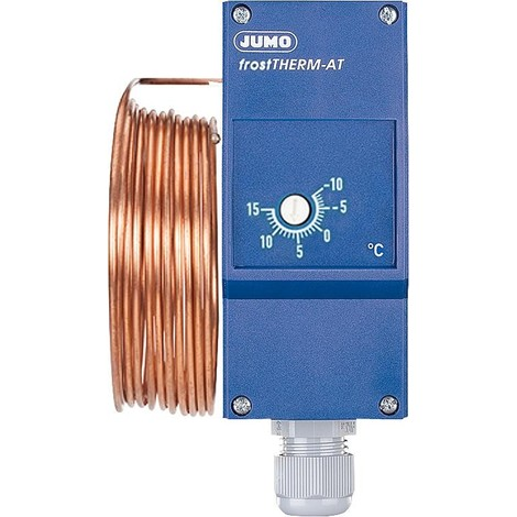 Thermostat de protection antigel Jumo frostTherm-AT, longueur du capil. 6000mm