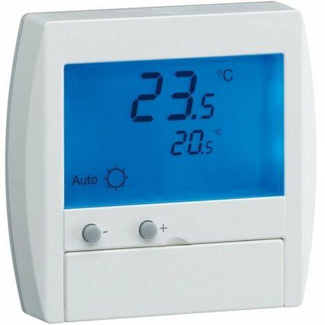 Thermostat digital semi-encastré avec FP / Hager
