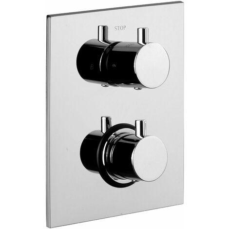 Thermostat eingebauter Duschmischer 1 Steckdose Paffoni Light LIQ513
