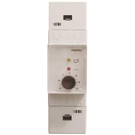 Thermostat électronique pour tableau modulaire 2 DIN 40g 100g C - Perry