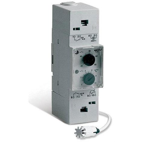 Thermostat électronique pour ventilation 2 DIN - Perry