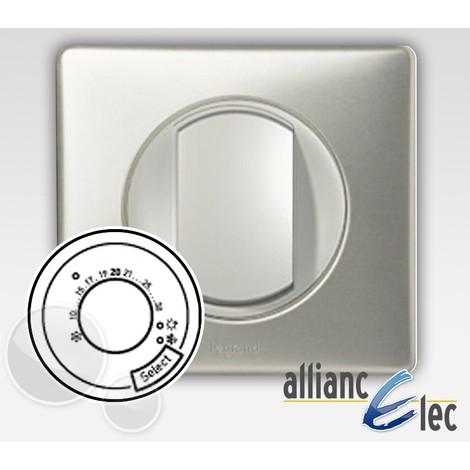 Thermostat fil pilote Legrand celiane titane complet