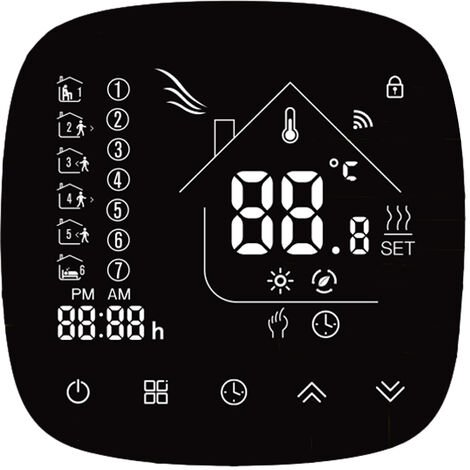 Thermostat LCD ¨¦cran tactile r¨¦gulateur de temp¨¦rature programmable