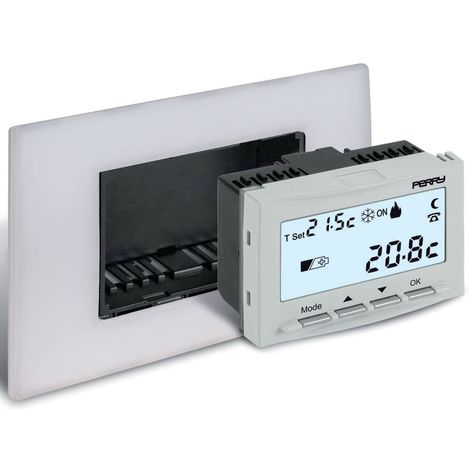Thermostat numérique Perry 3V intégré cm 4,7x5,2x6,5 Perry 1TITE540