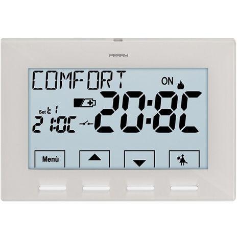Thermostat pour chaudière blanche avec b cm 2,6x8,85x12,85 Perry 1TPTE028B
