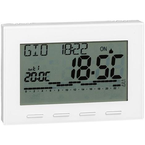 Thermostat programmable digital alimentation à piles Caleffi 738   blanc