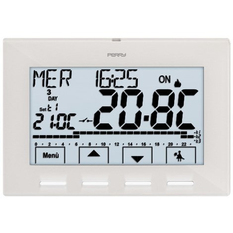 Thermostat programmable digital hebdomadaire 230V NEXT - Perry