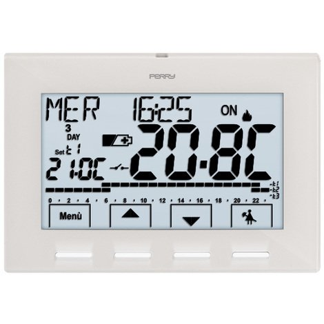 Thermostat programmable digital hebdomadaire 3V NEXT - Perry