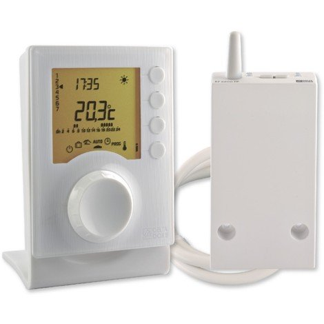 Thermostat programmable TYBOX 137 - 2 modes température - Sans fil - Delta Dore