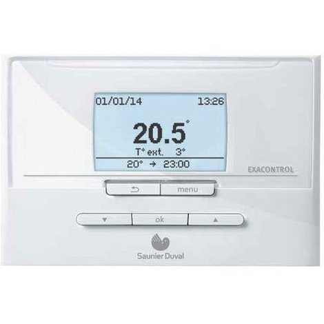 Thermostat programmation Saunier Duval Exacontrol E7R C-B
