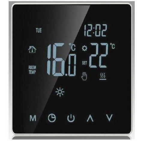Thermostat tactile 16A 230V affichage digital pour plancher chauffant, chauffage au sol