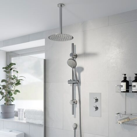 Thermostatic Concealed Round Shower Ceiling Mounted Adjustable Shower Heads