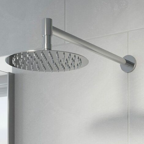 Thermostatic Concealed Round Shower Wall Mounted Drencher Shower Head Chrome