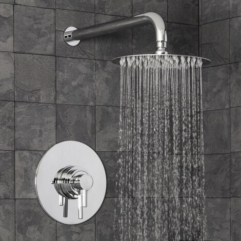 Thermostatic Concealed Shower Fixed Shower Head Set Concentric