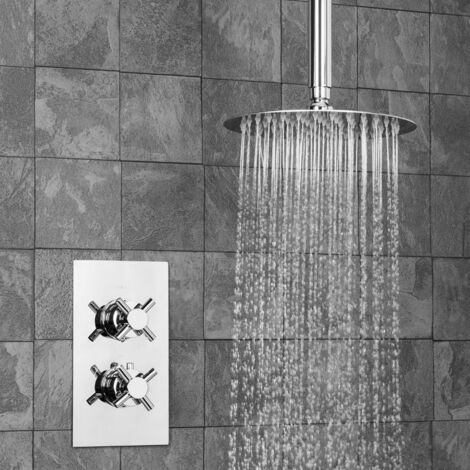 Thermostatic Concealed Shower Mixer Fixed Ceiling Shower Head Set