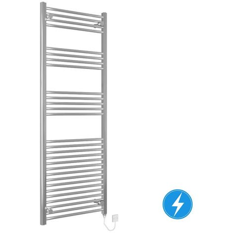 Thermostatic Electric Heated Bathroom Towel Rail Radiator Rad 700W 1600x600 Chrome