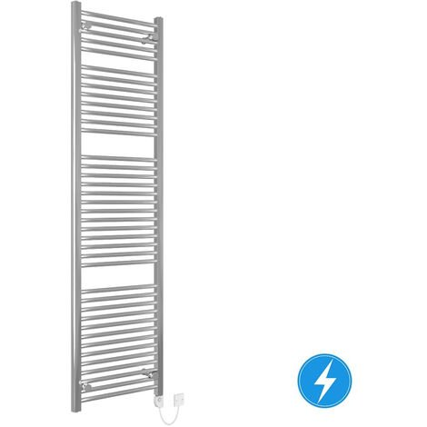 Thermostatic Electric Heated Bathroom Towel Rail Radiator with Controller 800W 1800x500 Chrome