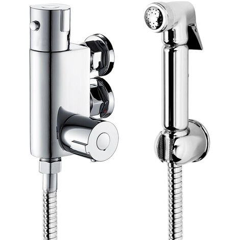 Thermostatic Mixer Shower Bidets Toilet Valve Hand Held Douche Kit Muslim Spray