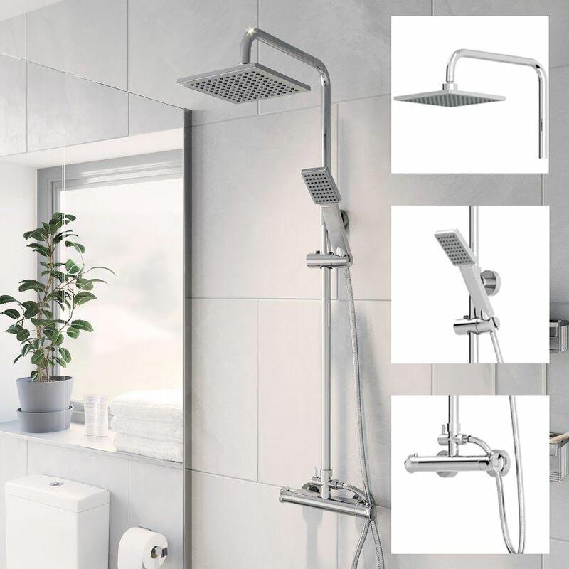 Mix bathroom shower tap All Lengths Shower hose Black//Solid brass