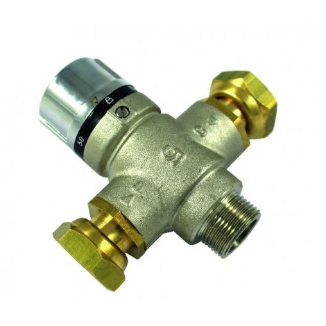 Thermostatic mixing valve 3/4 MF rotating nuts
