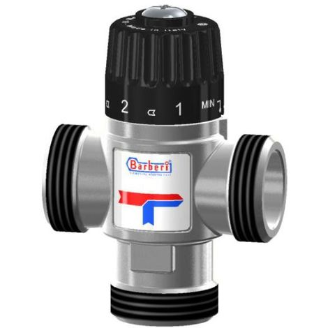 "Thermostatic Mixing Valve Side Way Mixed Water 20-43C 1,6m3/h 3/4"" Male BSP"