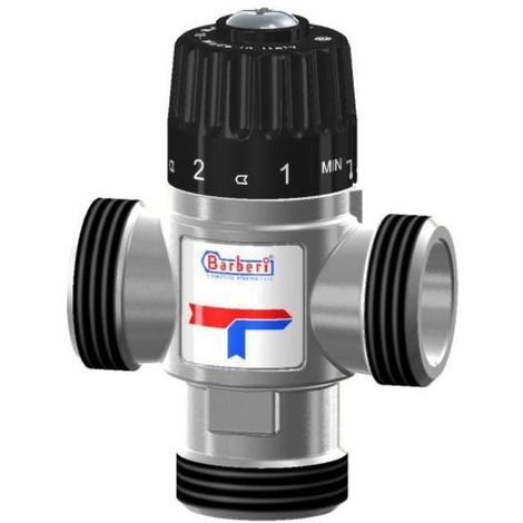 "Thermostatic Mixing Valve Side Way Mixed Water 20-43C 2,5m3/h 1"" Male BSP"