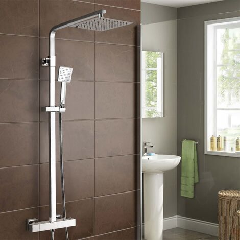 """main image of """"Thermostatic Shower Mixer With Slide Rail Kit Square"""""""
