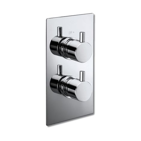 Thermostatic Square Shower Valve with Round Handles