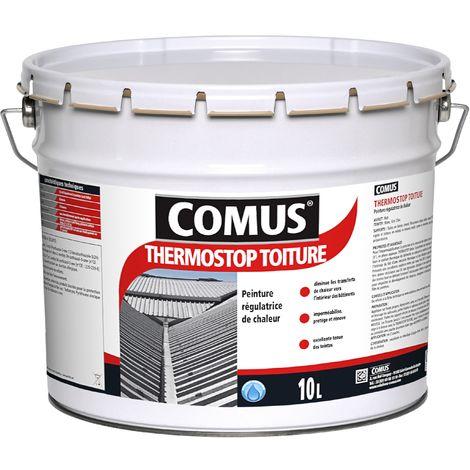 THERMOSTOP TOITURE 10L Gris clair - Peinture régulatrice de chaleur pour l'imperméabilisation, la protection et la rénovation des toitures - COMUS