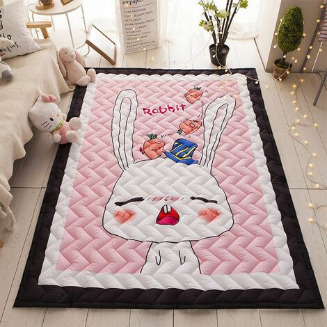 Thick Kid Rugs Crawling Mat Game Non-slip Play Mat Baby Room Decoration Kid Rabbit 145 * 195cm