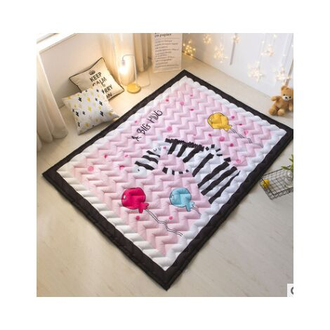 Thick Kids Rug Crawling Mat Game Non-slip Play Mat Baby Room Decoration Kids Zebra Ball 145 * 195cm