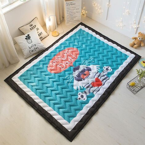 Thick Kids Rug Crawling Mat Game Non-slip Play Mat Baby Room Decoration Tiger Kid 145 * 195cm