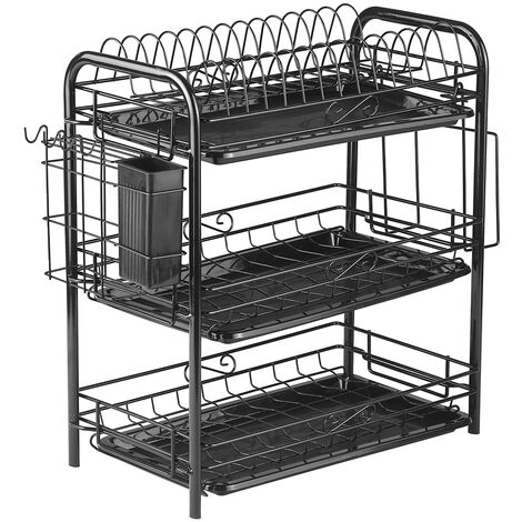 Thickened two-layer buckle-style kitchen multi-function dish rack