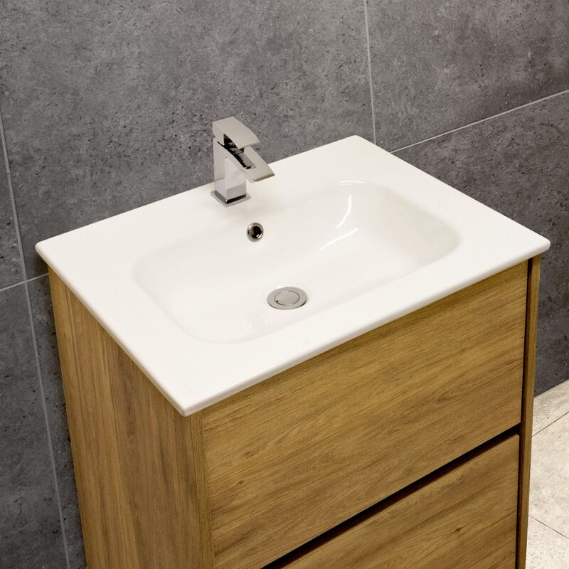 Thin-Edge 4010 Ceramic 61cm Inset Basin with Oval Bowl