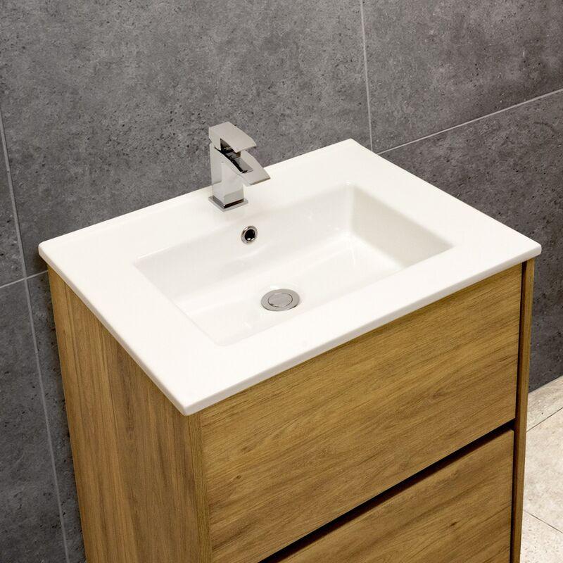 Thin-Edge 4012 Ceramic 61cm Inset Basin with Rectangular Bowl