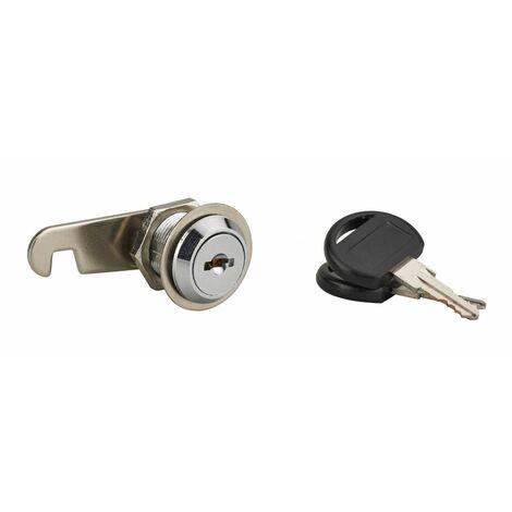 THIRARD - Batteuse avec came pour boîte aux lettres, nickel, longueur 20mm, 2 clés