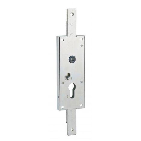 Thirard - Boîtier de serrure en applique vertical à cylindre profilé carré 7 mm 2 points haut et bas pour porte de garage