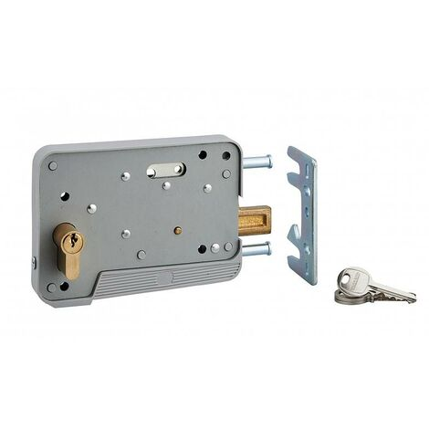 Thirard - Cerradura de cilindro 30x10 mm 3 llaves para puerta de madera o PVC - 500067
